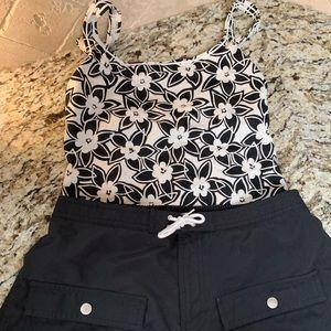 Tropical Escape size 10 2-piece swimsuit